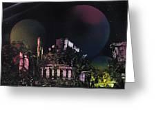 Purple Temple Greeting Card