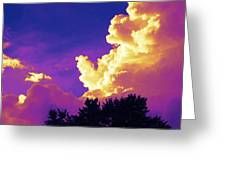 Purple Thunder Greeting Card