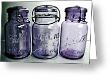 Purple Trio Greeting Card