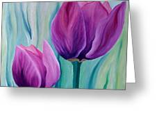 Purple Tulips Greeting Card by Carola Ann-Margret Forsberg