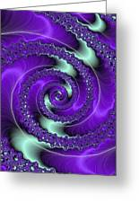 Purple Vortex Greeting Card