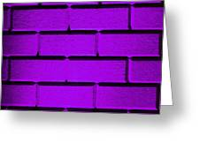 Purple Wall Greeting Card