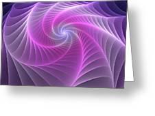 Purple Web Greeting Card