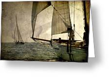 Pursuit In Deep Sea Greeting Card