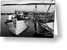 Push Boat Greeting Card