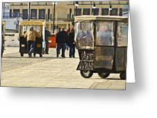 Pushing The Cart Again In Margaritaville Greeting Card