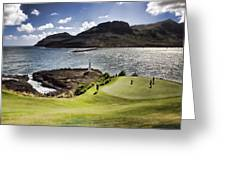 Putting Green In Paradise Greeting Card