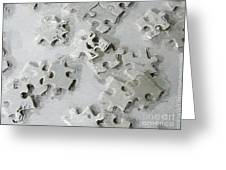 Putting Puzzle Pieces Together Greeting Card