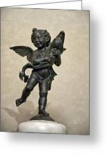 Putto With Dolphin By Verrocchio Greeting Card by Melany Sarafis