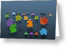 Puzzle Family Greeting Card