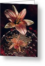 Puzzled Flower Greeting Card