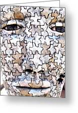 Puzzled Man No2 Greeting Card
