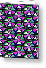Pyramid Dome Triangle Purple Elegant Digital Graphic Signature   Art  Navinjoshi  Artist Created Ima Greeting Card