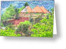 Pyramid Houses In Spring II Greeting Card