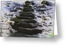 Pyramid Of Rocks Greeting Card