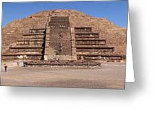 Pyramid Of The Moon Panorama Greeting Card
