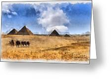 Pyramids Of Giza In Egypt Greeting Card