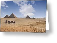 Pyramids Of Giza Greeting Card