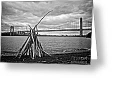 Pyre At The Bridge Greeting Card