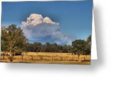 Pyrocumulus Cloud 08 18 12 Greeting Card
