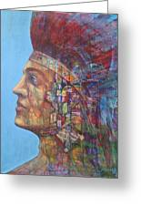 Qu-say-u Anasazi Warrior Greeting Card