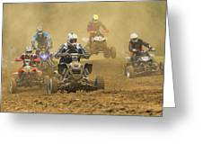 Quad Race Greeting Card