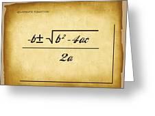 Quadratic Equation - Aged Greeting Card