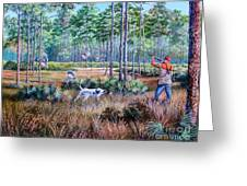 Quail Hunting...a Southern Tradition. Greeting Card