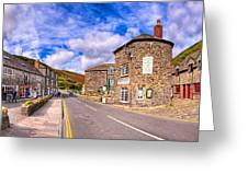 Quaint Cornwall In The Little Village Of Boscastle Greeting Card by Mark E Tisdale