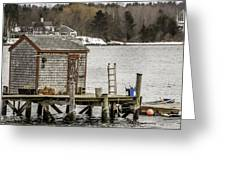 Quaint Fishing Shack New Hampshire Greeting Card