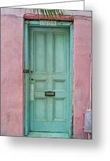 Quaint Little Door In The Quarter Greeting Card