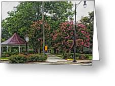Quaint Park In Demopolis Alabama Greeting Card