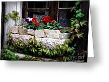 Quaint Stone Planter Greeting Card