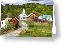 Quaint Vermont Village Greeting Card