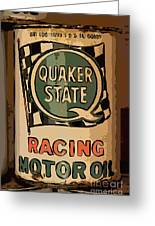 Quaker State Oil Can Greeting Card