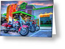 Quaker Steak And Lube Bike Night Greeting Card