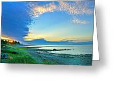Qualicum Beach Clouds Greeting Card