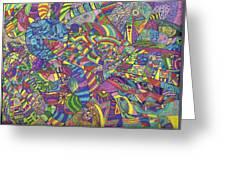 Quantum Qarma Greeting Card by Ty DAvila
