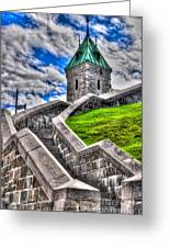 Quebec City Fortress Gates Greeting Card