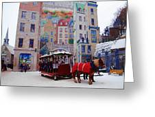 Quebec City Holiday Greeting Card