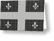 Quebec Metal Mesh Flag Greeting Card