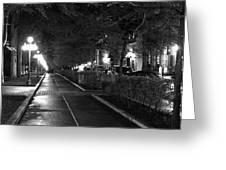 Quebec Night Greeting Card