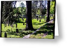 Quechee Vermont Cemetary Greeting Card