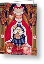 Queen Alice, 2008 Oil And Tempera On Panel Greeting Card
