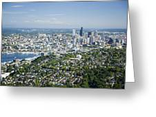 Queen Anne Hill, Lake Union, City Greeting Card