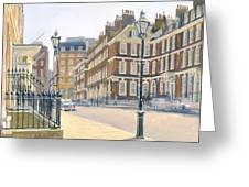 Queen Annes Gate Oil On Canvas Greeting Card