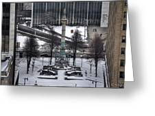 Queen City Winter Wonderland After The Storm Series 0026 Greeting Card