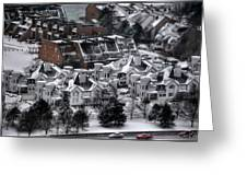 Queen City Winter Wonderland After The Storm Series 0028b Greeting Card