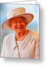 Queen Elizabeth II Portrait 100-028 Greeting Card