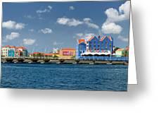 Queen Emma Bridge Open Curacao Greeting Card